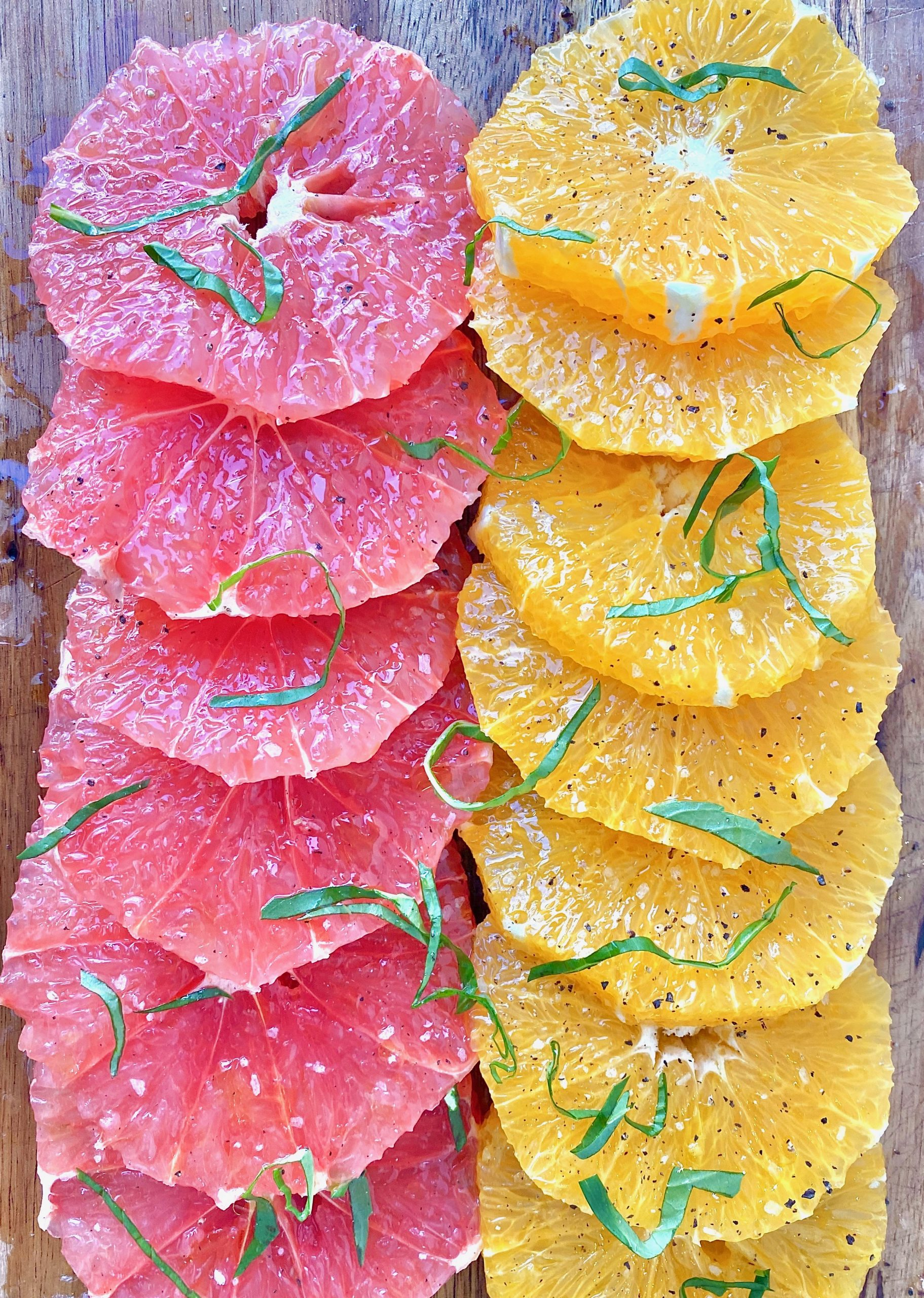 citrus salad with basil