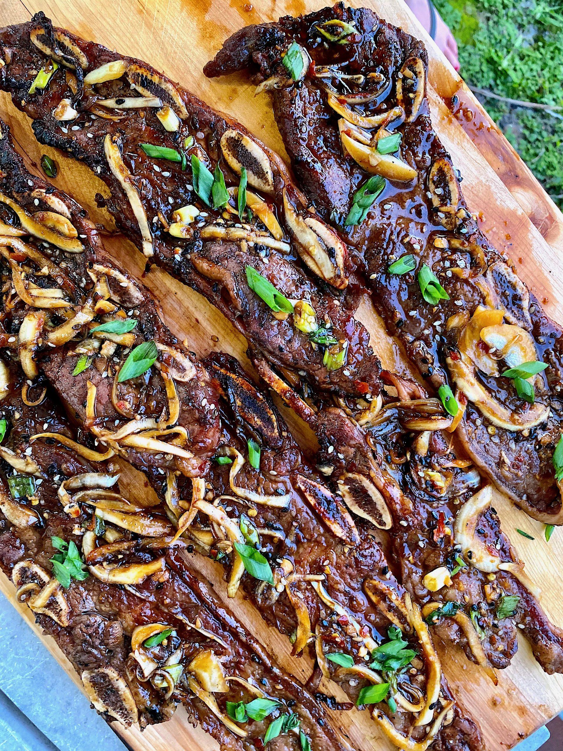 Korean style BBQ short ribs