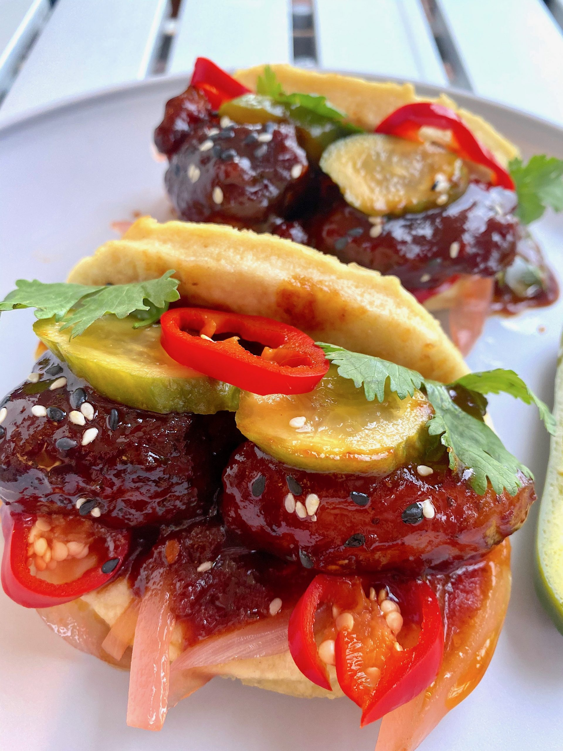 Pork Belly Burnt Ends Bao Buns